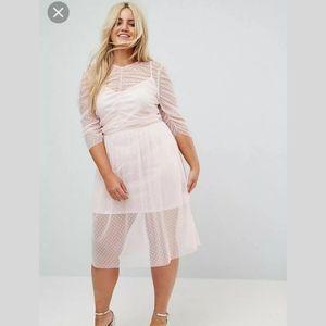 ASOS Pink Sheer Dress